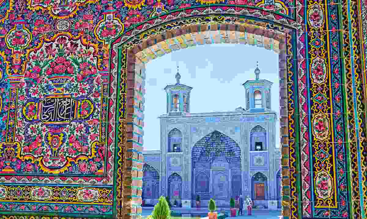 Silky way: The colourful entrance to the Nasir al-Mulk Mosque in Shiraz (Shutterstock)