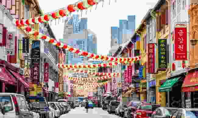 Lavishly decorated Chinatown in Singapore (Dreamstime)