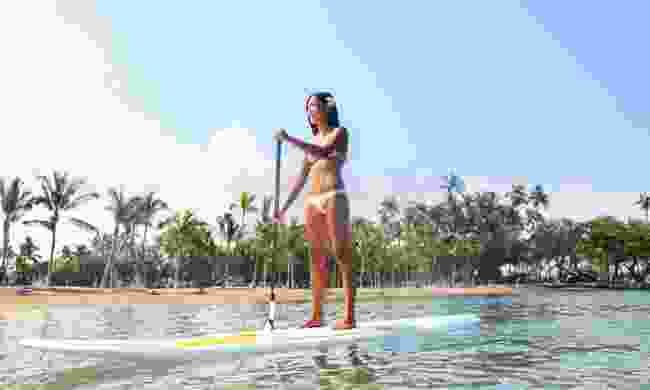 Paddleboarding in Hawaii (Dreamstime)