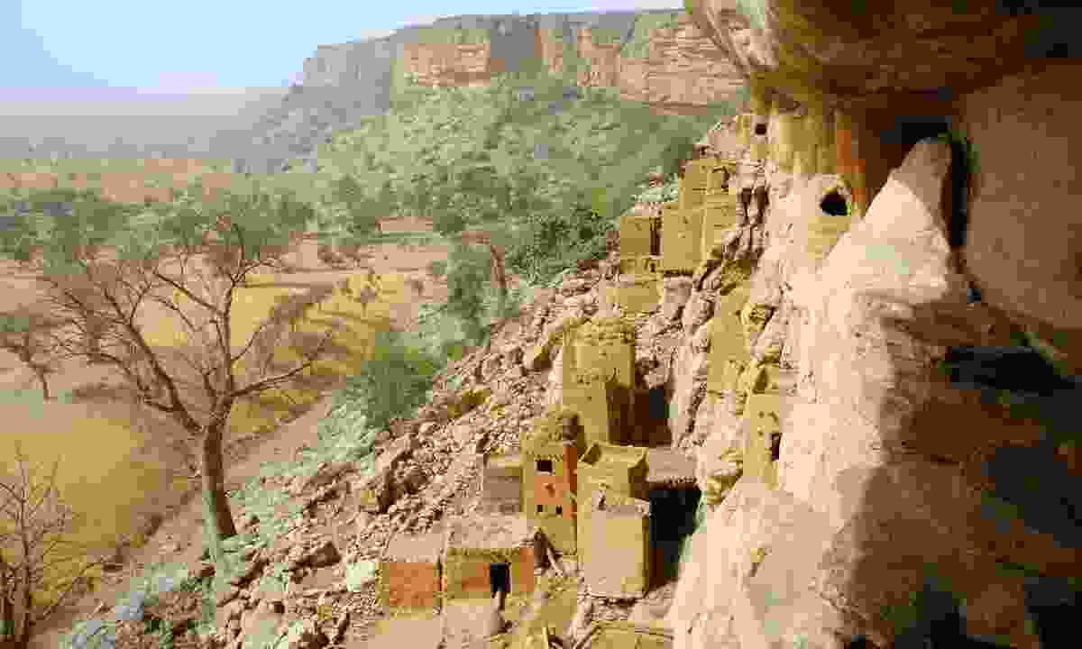 Looking along the Bandiagara Escarpment (Dreamstime)