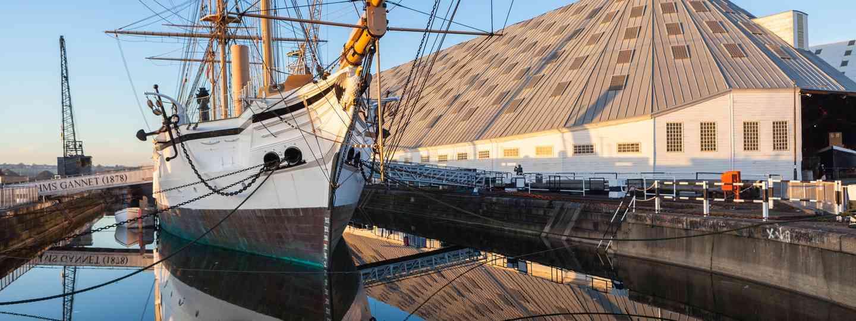 HMS Gannet at the Chatham Dockyard (Dreamstime)