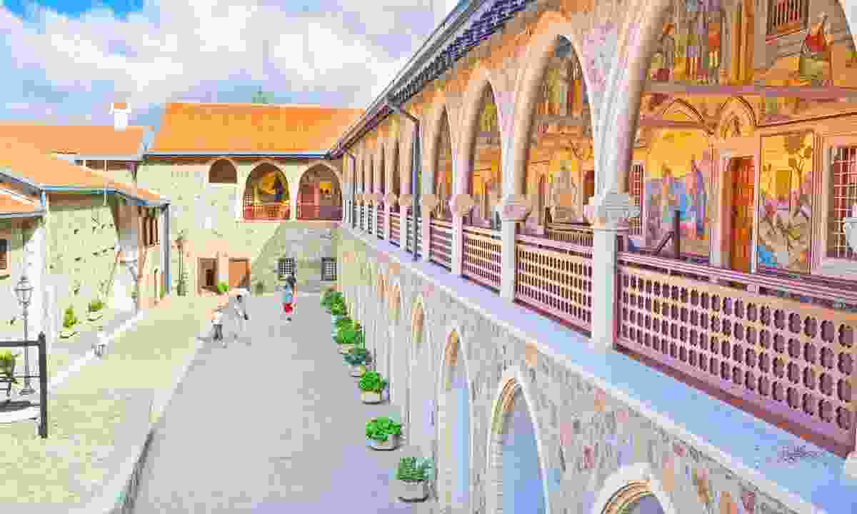 Kykkos Abbey in the Troodos mountains (Dreamstime)
