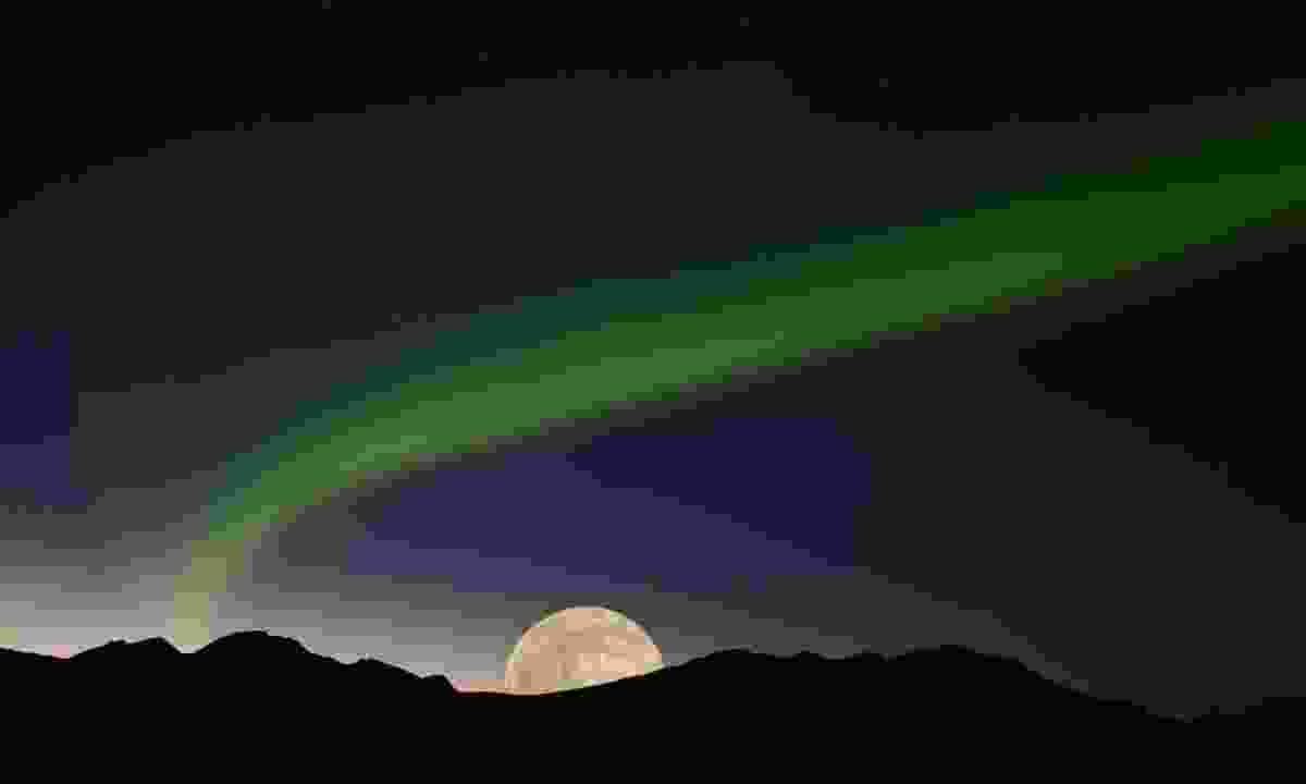 Northern Lights on the night of a full moon (Dreamstime)