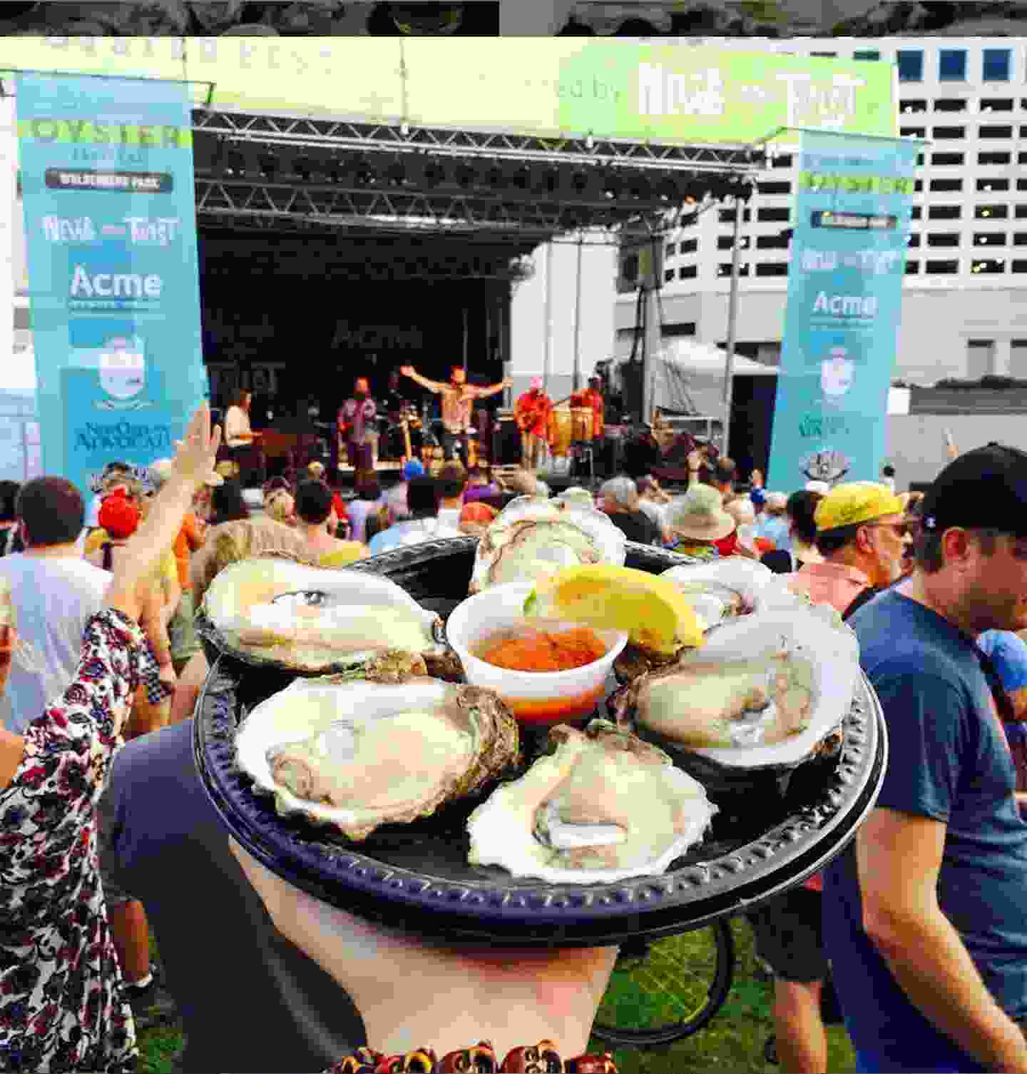 Oysters and music (nolaoysterfest)