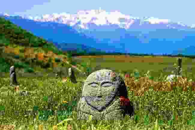 Kurgan stone near Burana tower in Kyrgyzstan (Shutterstock)