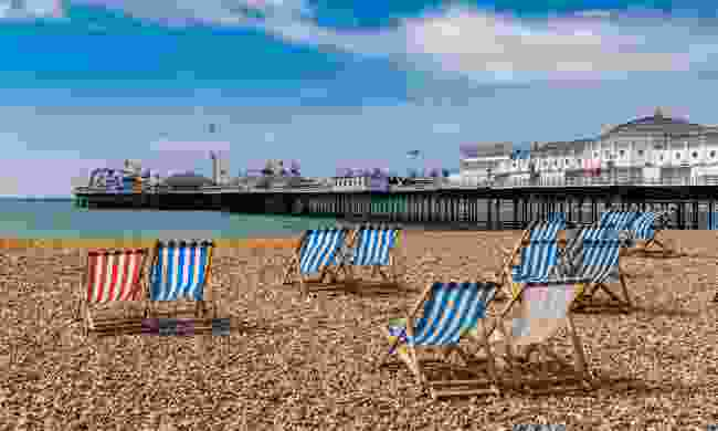 Brighton Beach and its world famous pier (Shutterstock)