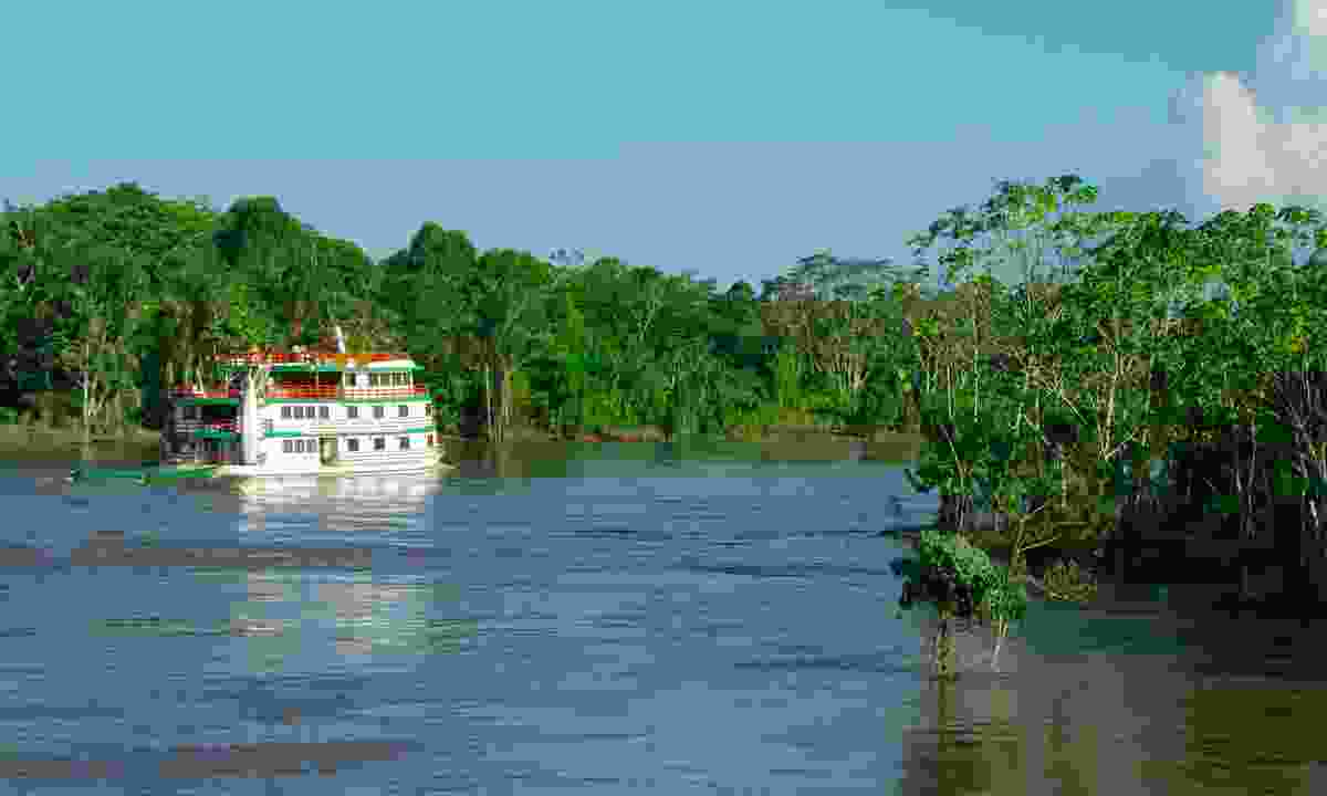 Boat on the Amazon River (Dreamstime)
