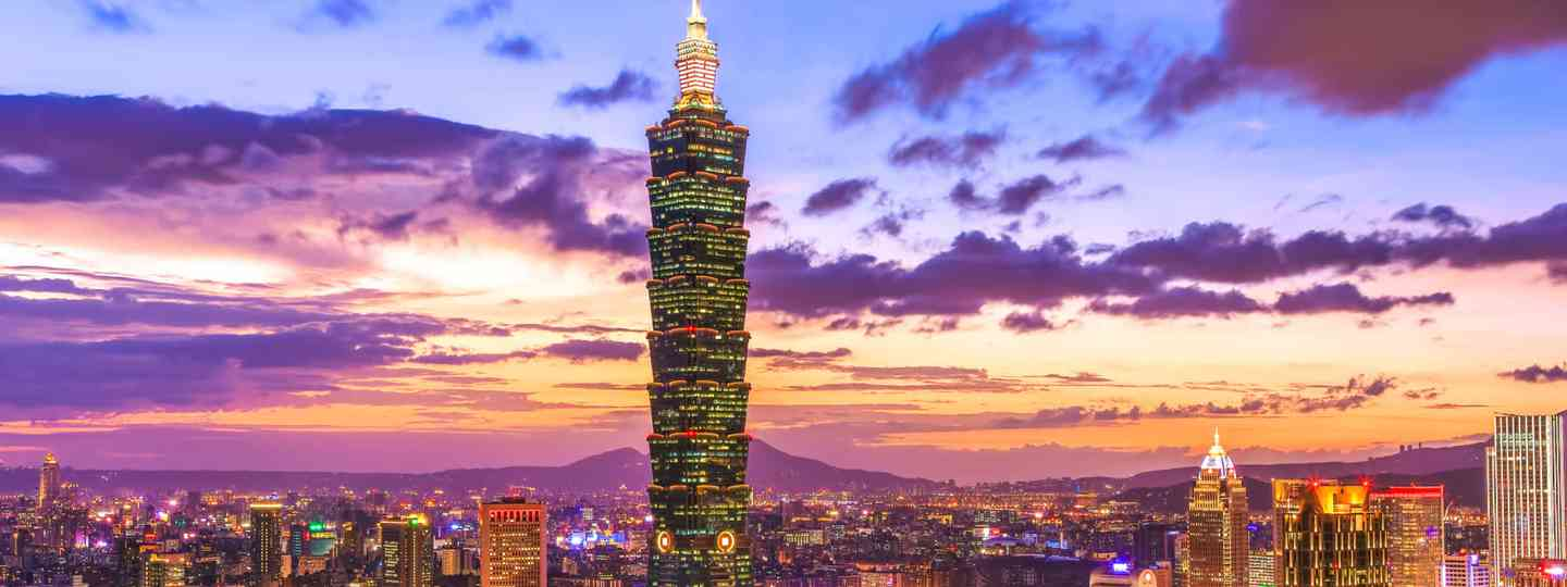 Taipei 101 tower at sunset (Dreamstime)