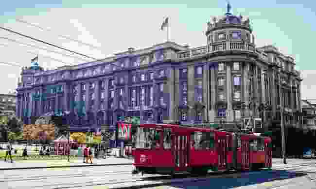 The public transport system consists of sleek new trams (Dreamstime)