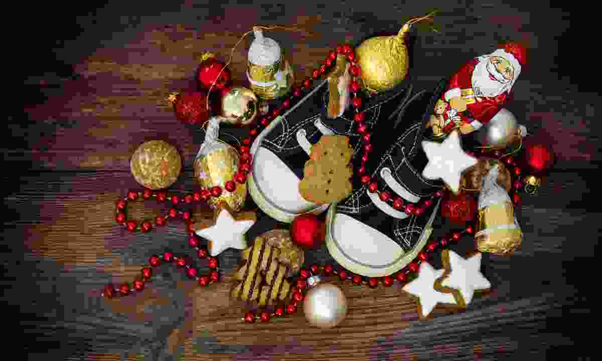 A shoe filled with sweets in Germany (Dreamstime)