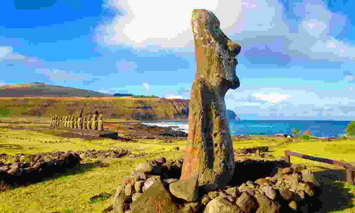 Moai statues, Easter Island (Dreamstime)