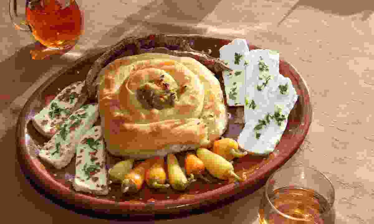Sample Balkan cuisine (KE Adventure)