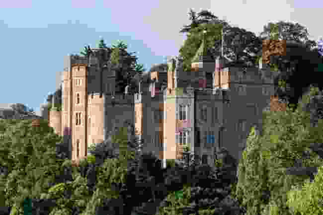 View of Dunster Castle in Somerset on October (Shutterstock)