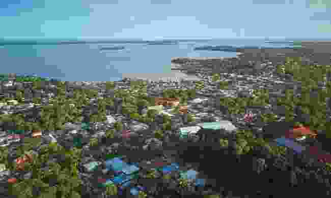 Ariel view of the port of Bluefields (Shutterstock)