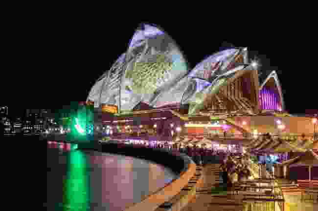 Sydney Opera House during Vivid (Dreamstime)