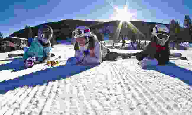 Kids skiing in Port Ainé (Marc Gasch)