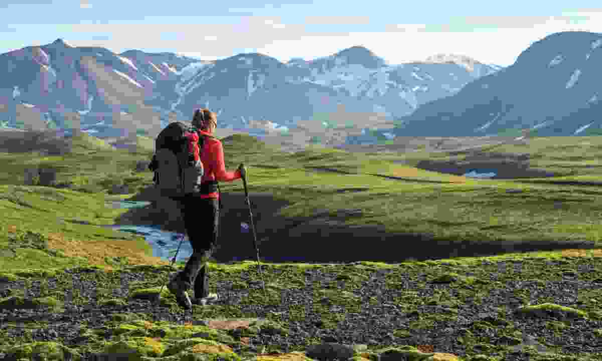 Hiking the Laugavegur trail (Shutterstock.com)
