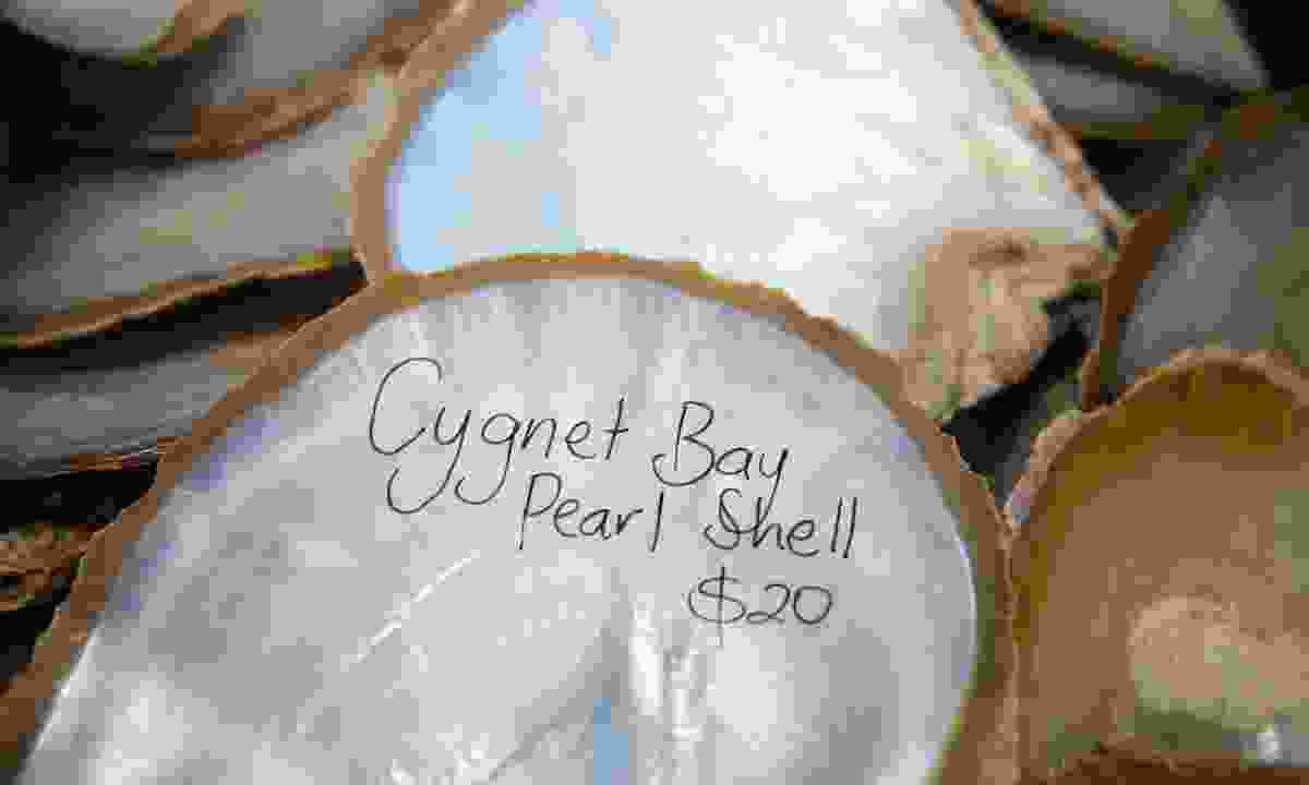 The town's still-famous pearl shells are everywhere here (Phoebe Smith)