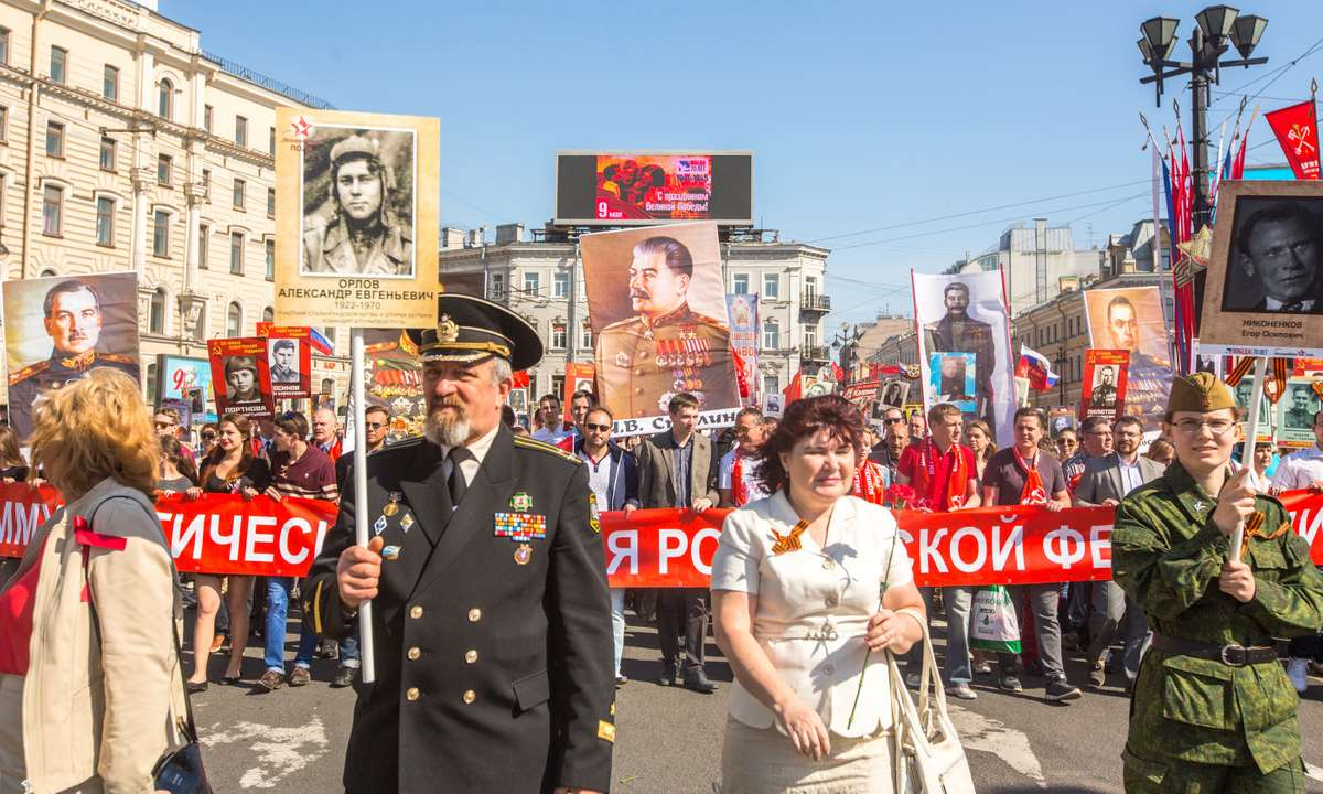 Immortal Regiment March in St Petersburg (Dreamstime)