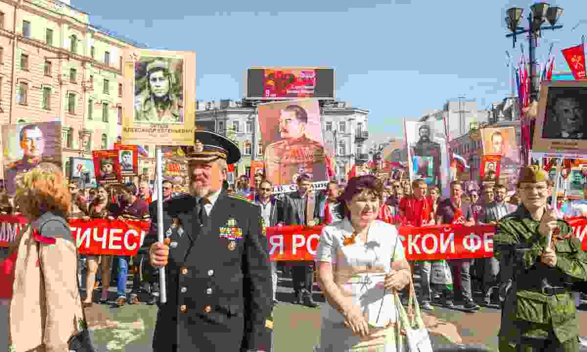 Immortal Regiment March in St Petersburg (Dreamstime)