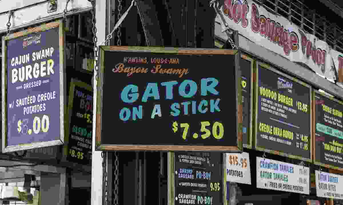 Food signs in the French Markets, New Orleans (Dreamstime)