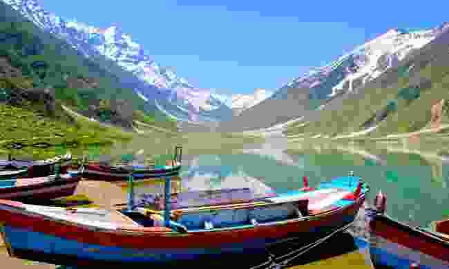 Boats on Saiful Muluk Lake (Shutterstock)