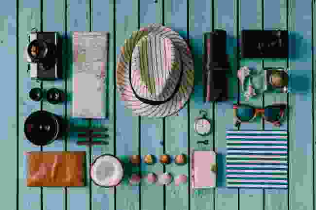 Tropical travel essentials (Shutterstock)
