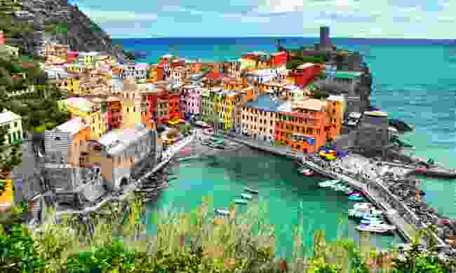 View of Vernazza from trail (Shutterstock)