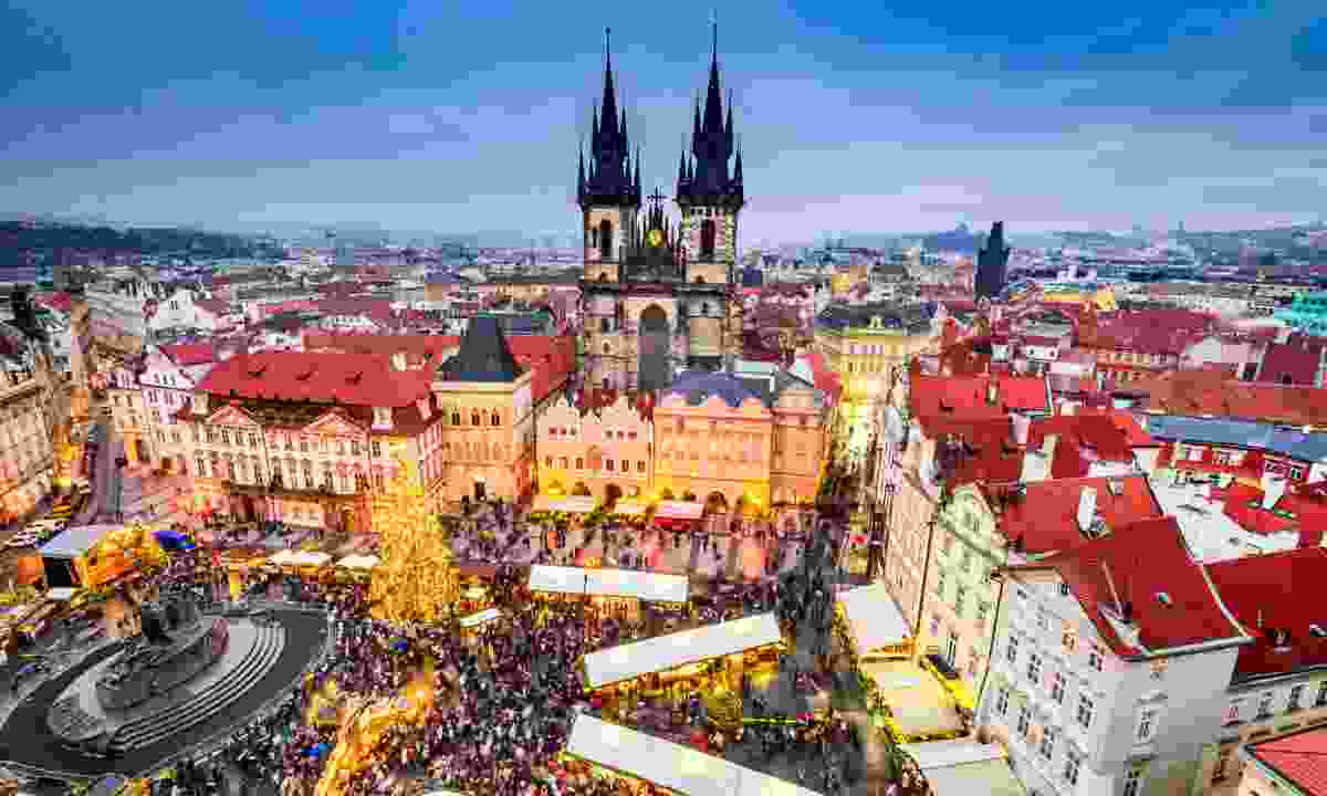 Old Town Square from above (Dreamstime)