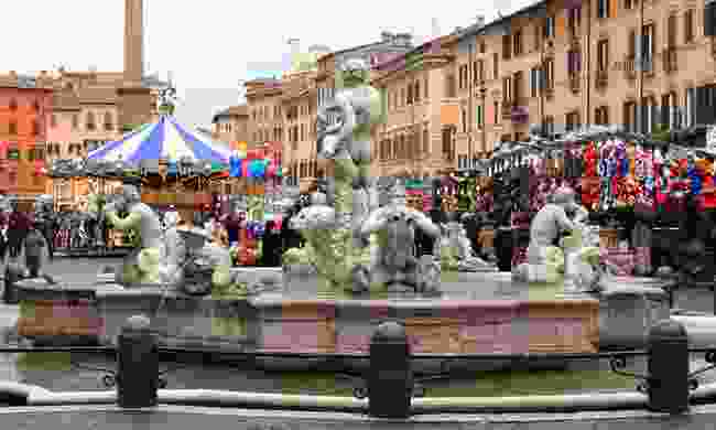Piazza Navona Christmas market (Dreamstime)