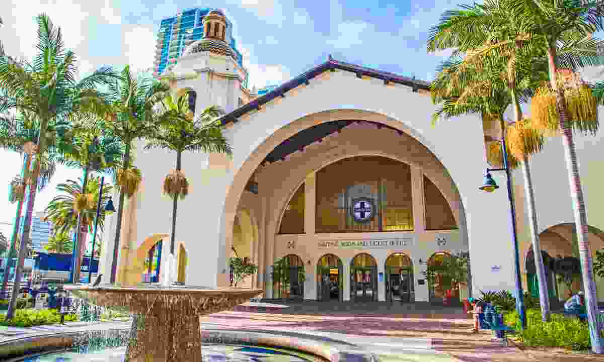 San Diego's Spanish-like Union Station (Dreamstime)