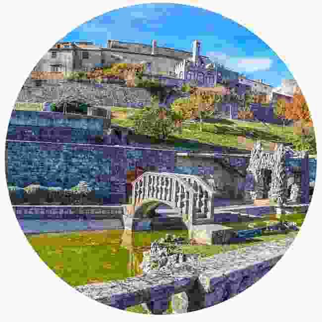 A panorama of the Ferrari Gardens in Stanjel (Shutterstock)