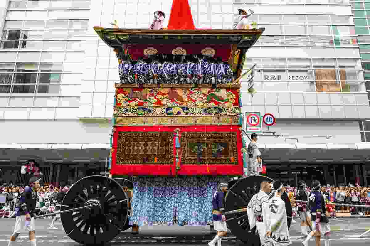 Float parading through Kyoto, Japan from Gion Matsuri (Shutterstock)