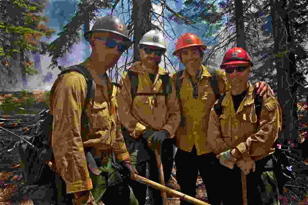With forest firefighters, El Dorado National Park, California (BBC/Ruairi Dunne)