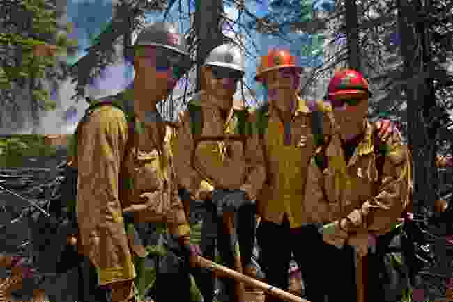 With forest firefighters, El Dorado National Park, California (BBC/Ruairi Dunne)