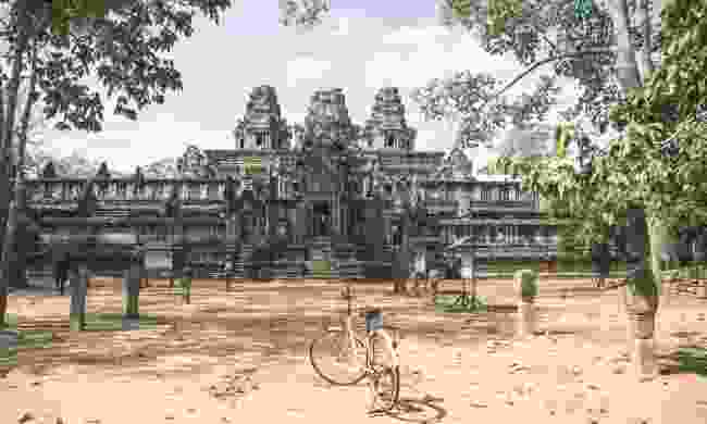 Explore the temples of Angkor by bicycle, Cambodia (Shutterstock)
