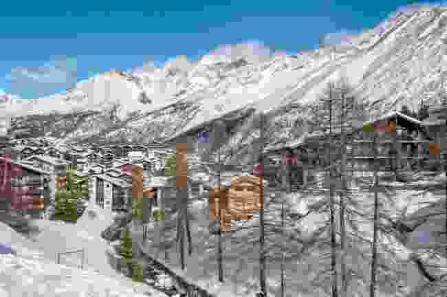 A snowy Saas-Fee village in winter (Shutterstock)