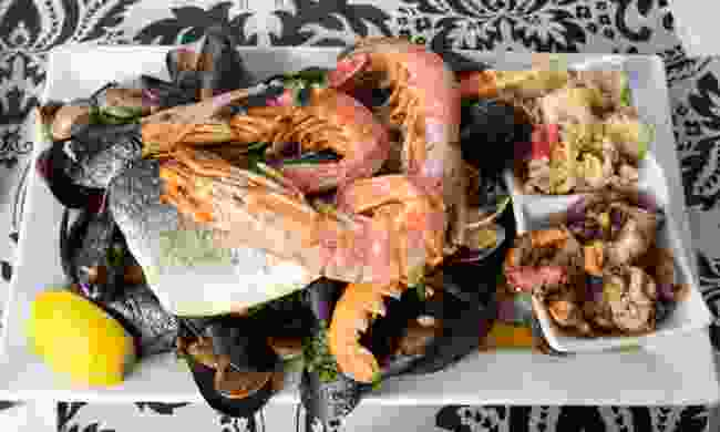 A plate of Maltese seafood (Shutterstock)