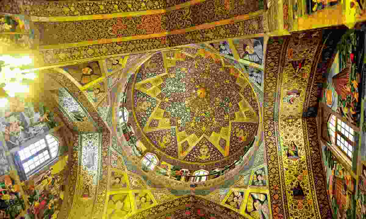 Mosque ceiling (Golden Eagle Luxury Trains)