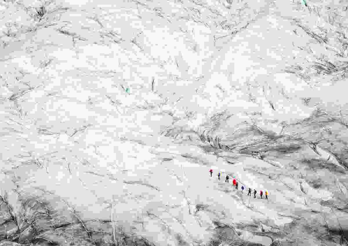 Walking on ice, Aletsch Glacier, Switzerland (Daan Annemans)