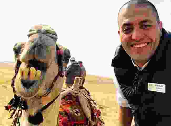 Ashraf with a camel (Ashraf Masoud)