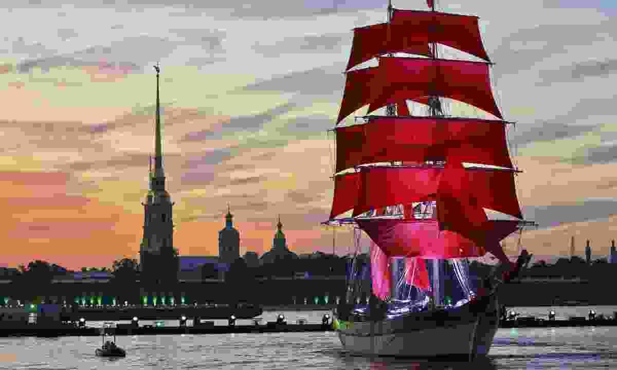 Sailing boat in St Petersburg (Dreamstime)