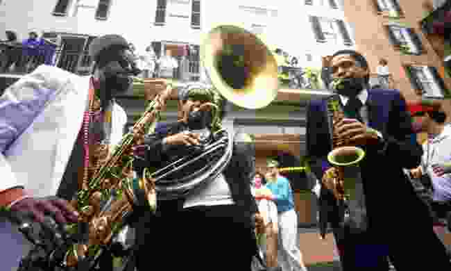 Jazz musicians performing on the French Quarter, New Orleans  (Shutterstock)