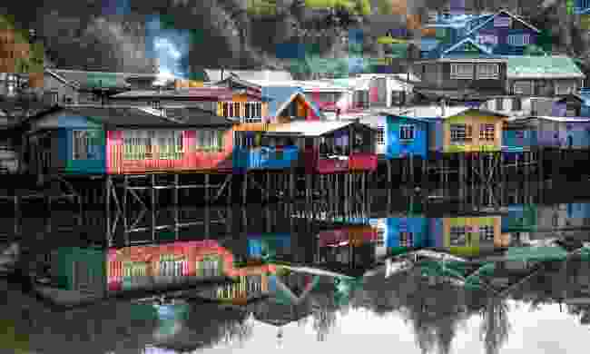 Traditional stilt houses in Castro on Chiloé Island (Shutterstock)
