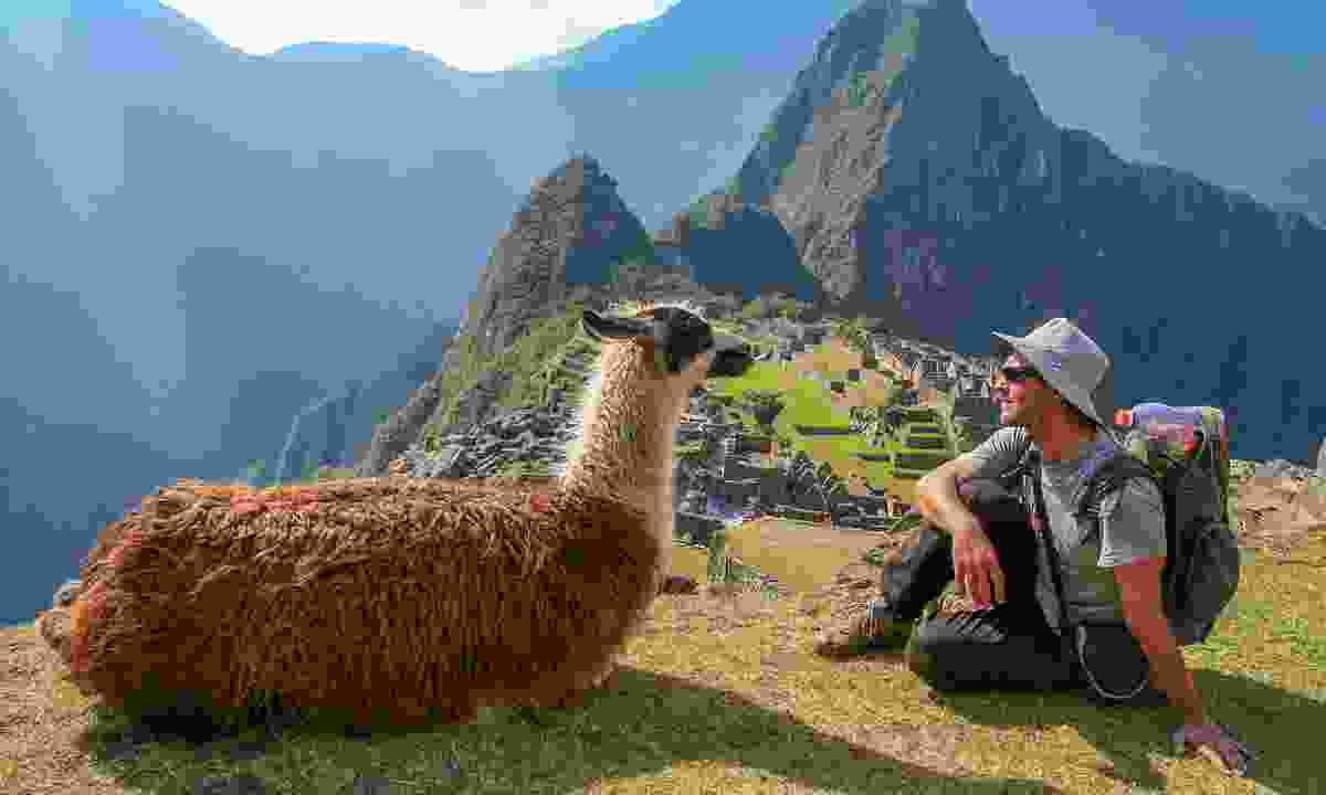 Meeting the locals in Machu Picchu (Shutterstock)