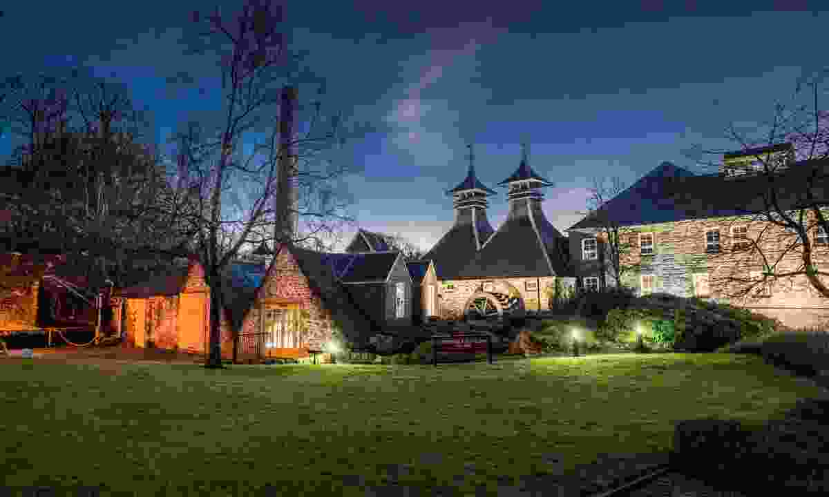 The distillery at night (Strathisla Distillery)