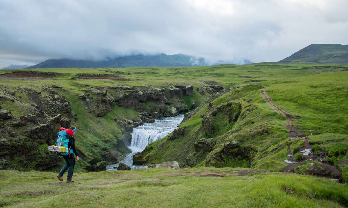 Fimmvorduhals trail in Iceland (Dreamstime)