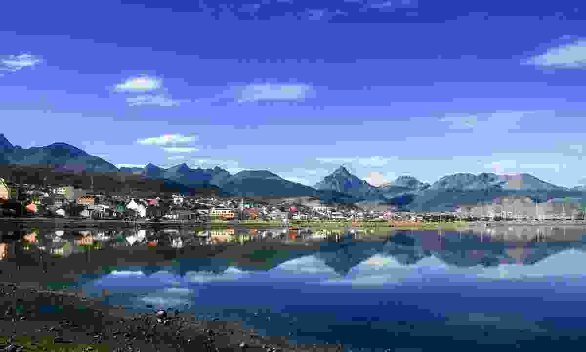 View of Ushuaia from the water (Dreamstime)