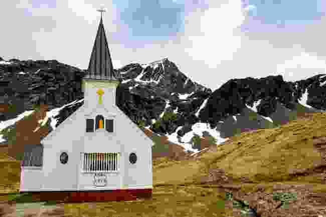 The Norwegian church on Grytviken (Shutterstock)