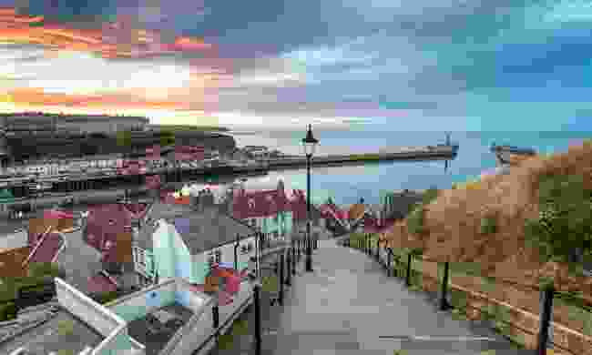 The steps down to Whitby (Shutterstock)